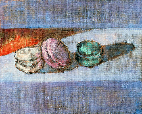 French Macarons Painting