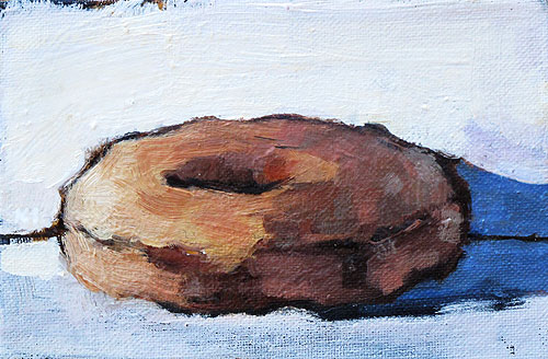 Glazed Donut Still Life Painting