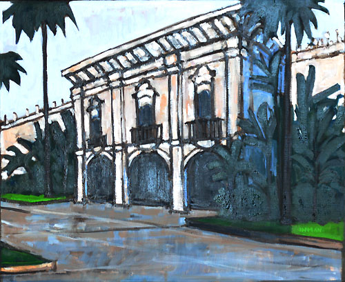Balboa Park Buildings Painting