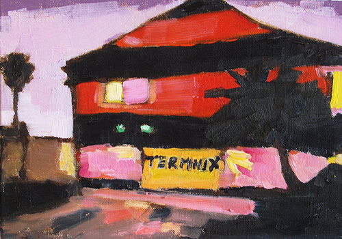 Termite Tent at Night Painting