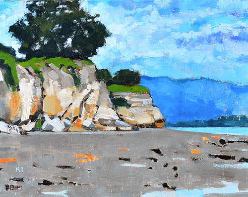 Leadbetter Beach Santa Barbara Painting