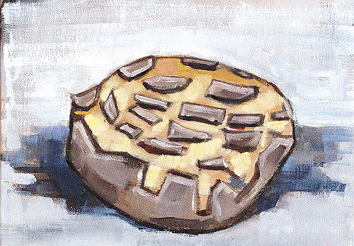 Concha Pastry Pan Dulce Still Life Painting