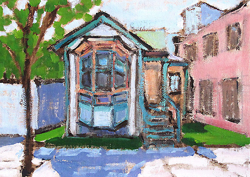 Victorian House San Diego Painting