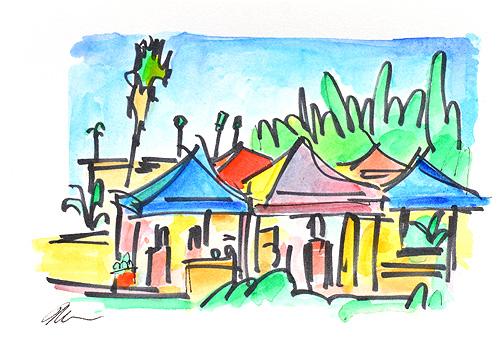 Golden Hill Farmer's Market San Diego Painting