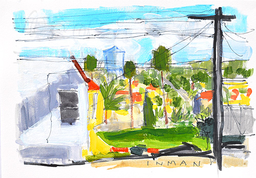 North Park Painting San Diego Watercolor Landscape
