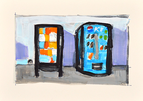 Vending Machines Painting