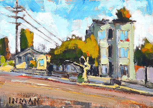 Market Street San Diego Painting Victorian Houses