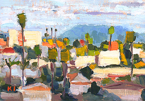North Park Painting San Diego Cityscape