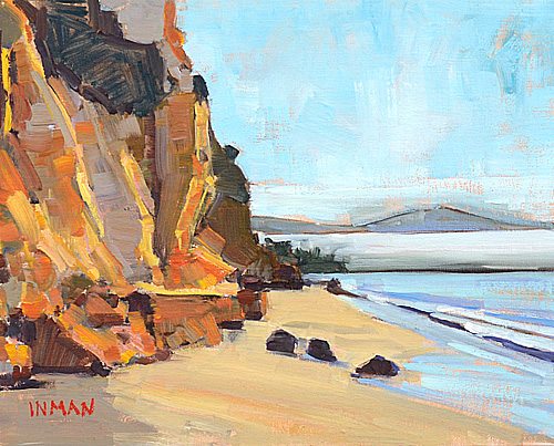 Santa Barbara Beach Painting Montecito Cliffs