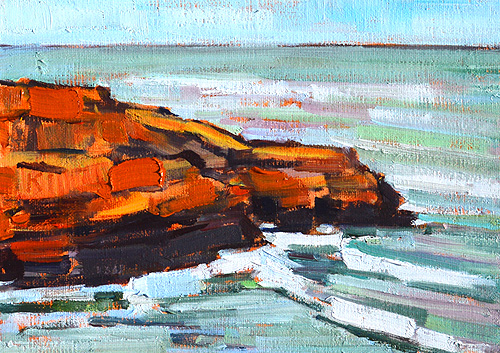 Ocean Beach Plein Air Painting