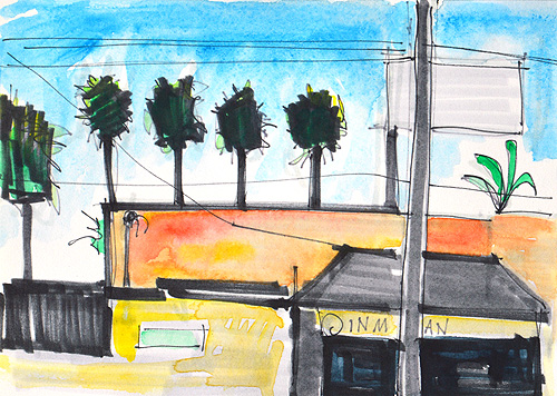 Hillcrest Watercolor Painting San Diego