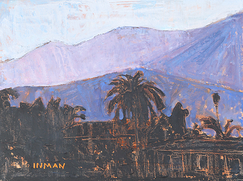 Santa Barbara Sunset, Montecito Painting