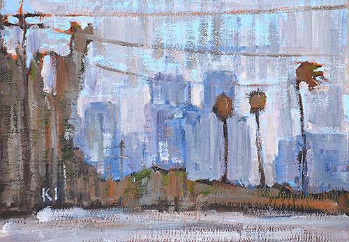 San Diego Skyline Painting