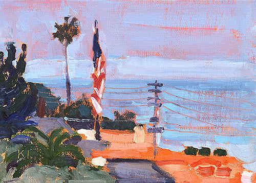 Ocean Beach Plein Air Painting San Diego