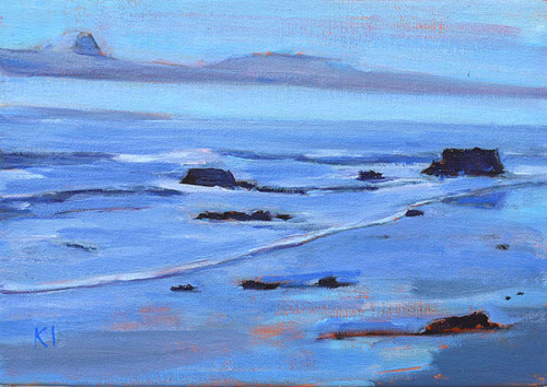Santa Barbara Beach Painting Blue