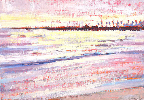 Santa Barbara Beach Painting East Beach Sunset