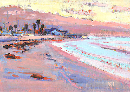 Santa Barbara Beach Painting Ledbetter Leadbetter