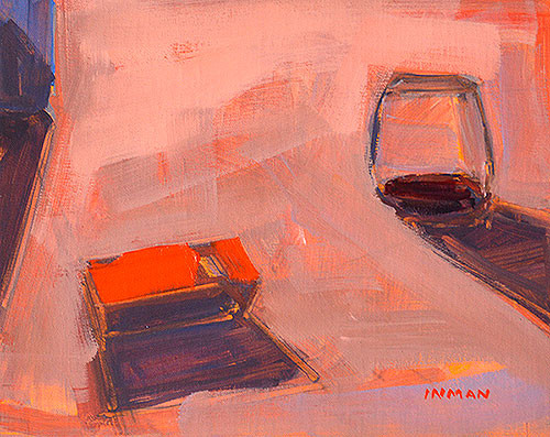 Wine and Cigarettes Still Life Painting