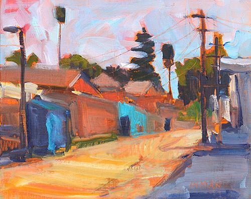 Ocean Beach Alley Painting Kevin Inman Plein Air