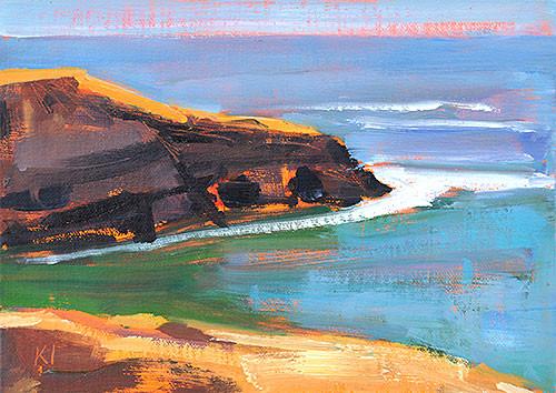 Sunset Cliffs, San Diego Plein Air Painting