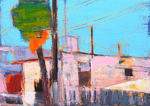 Original Tijuana Oil Painting Plein Air Impressionism Kevin Inman