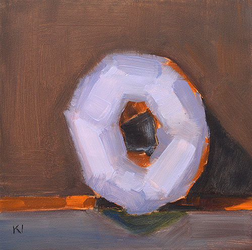 Donut Painting Original Oil Kevin Inman