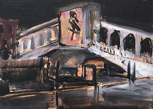 Rialto Bridge Venice Painting Italy