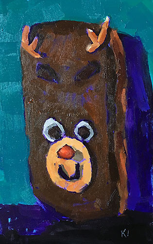 Christmas Donut Painting Kevin Inman