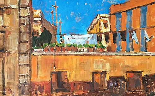 Laundry in Barcelona Painting  Kevin Inman
