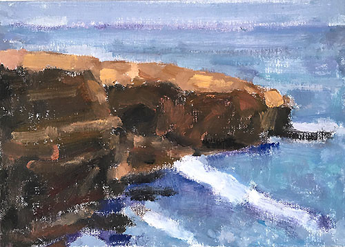 Sunset Cliffs Painting San Diego CA