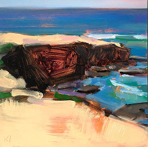 Sunset Cliffs San Diego Landscape Painting