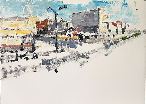 Tijuana painting by Kevin Inman