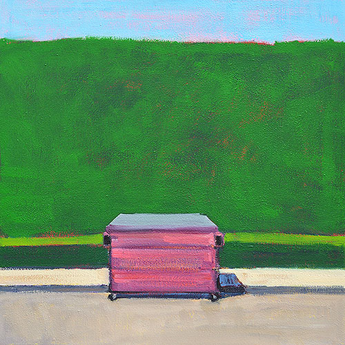 Hot Pink Dumpster Painting  Kevin Inman San Diego Art