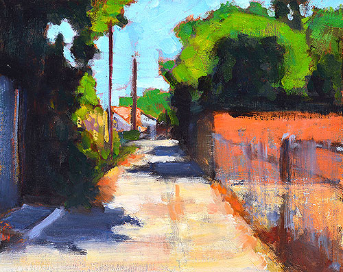 Kevin Inman San Diego Landscape Painting Alley Scene