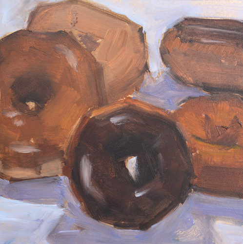 Donuts Painting by Kevin Inman