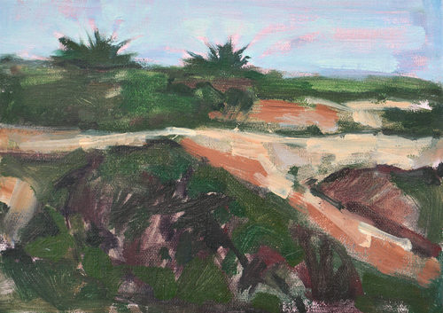 Sunset Cliffs San Diego Painting by Kevin Inman