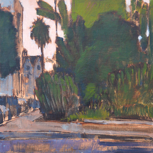 Golden Hill San Diego Landscape Painting by Kevin Inman