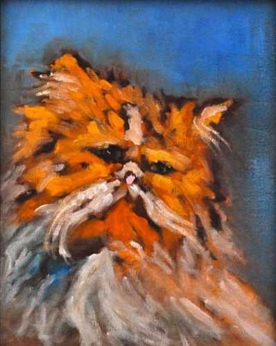 Cat Painting for Charity Auction