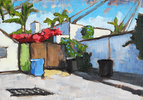 Bougainvillea Painting, San Diego