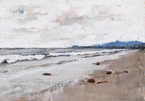 Santa Barbara Beach Clouds Painting
