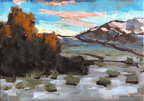 Santa Ynez Valley Sunset Landscape Painting