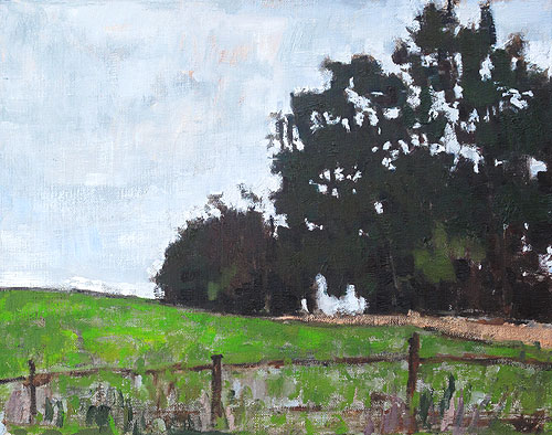 Blacksburg Virginia Farm Landscape Painting