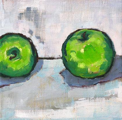 Green Apples Granny Smith Still Life Painting