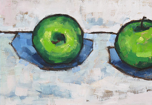 Granny Smith Apples Still Life Painting