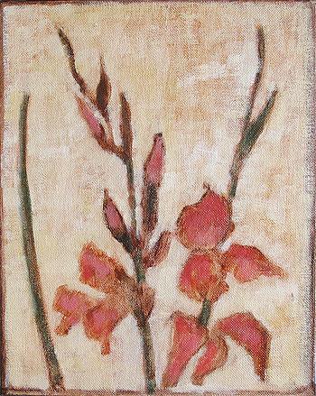 Gladiolus Flowers Still Life Painting