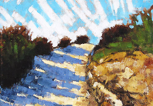 Balboa Park Hill Path, San Diego Landscape Painting