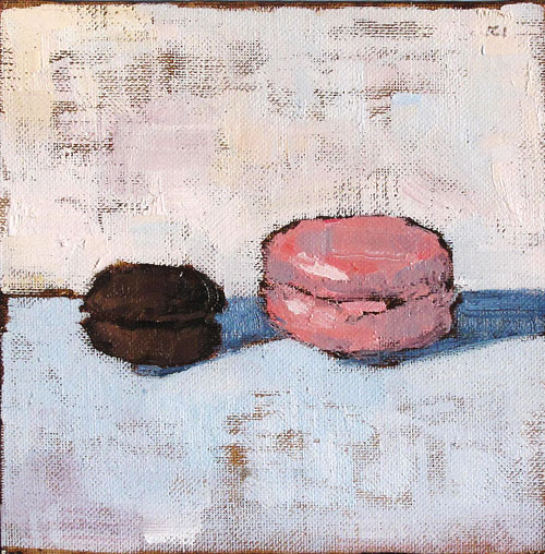 French Macarons Still Life Painting