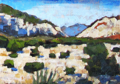 Red Rocks Painting, Nevada Desert