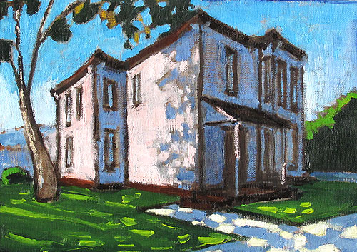 Painting of Victorian House in San Diego