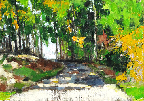 Blacksburg, Virginia Woods Painting